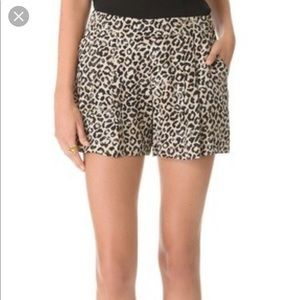 Rebecca Taylor Leopard Shorts